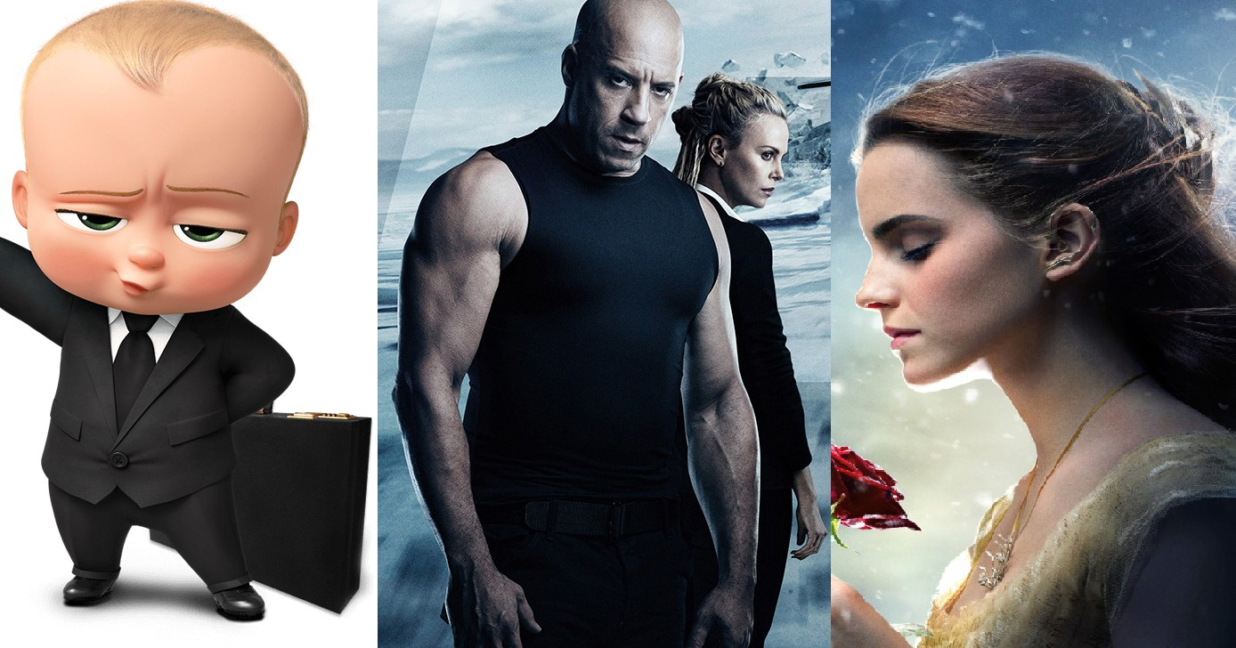 باکس آفیس,box office,the fate of the furious,سرنوشت خشن,boss baby,بچه رئیس,the beauty and beast,دیو و دلبر,Emma Watson,jimmy kimmel