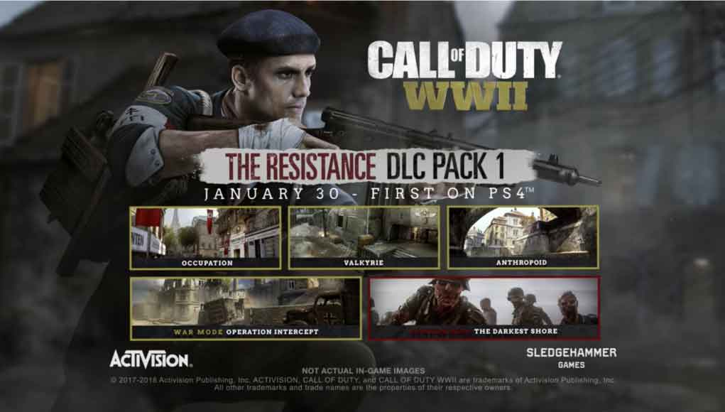 Call of Duty: WWII,Call of Duty,COD,The Resistance,Call of Duty: WWII Nazi Zombies,تریلر,تریلر بازی,تریلر جدید,تریلر جدید بازی,تریلر جدید بازی Call of Duty: WWII,بسته الحاقی The Darkest Shore بازی Call of Duty: WWII,بسته الحاقی The Resistance بازی Call of Duty: WWII,کالاف دیوتی,کالاف,زامبی
