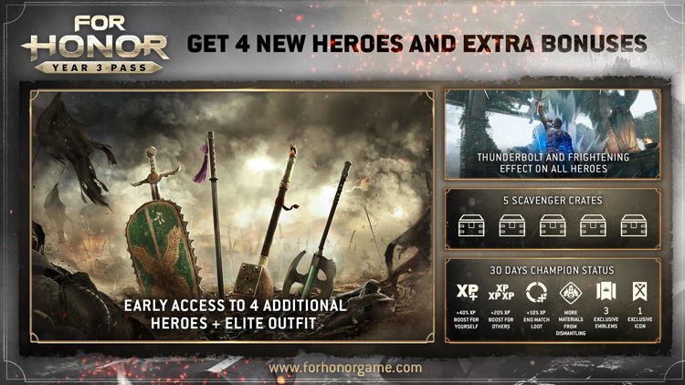 For Honor , Ubisoft , Complete Edition For Honor , Hack and Slash , AnvilNext , سال سوم بازی For Honor , سیزن پس سال سوم بازی For Honor