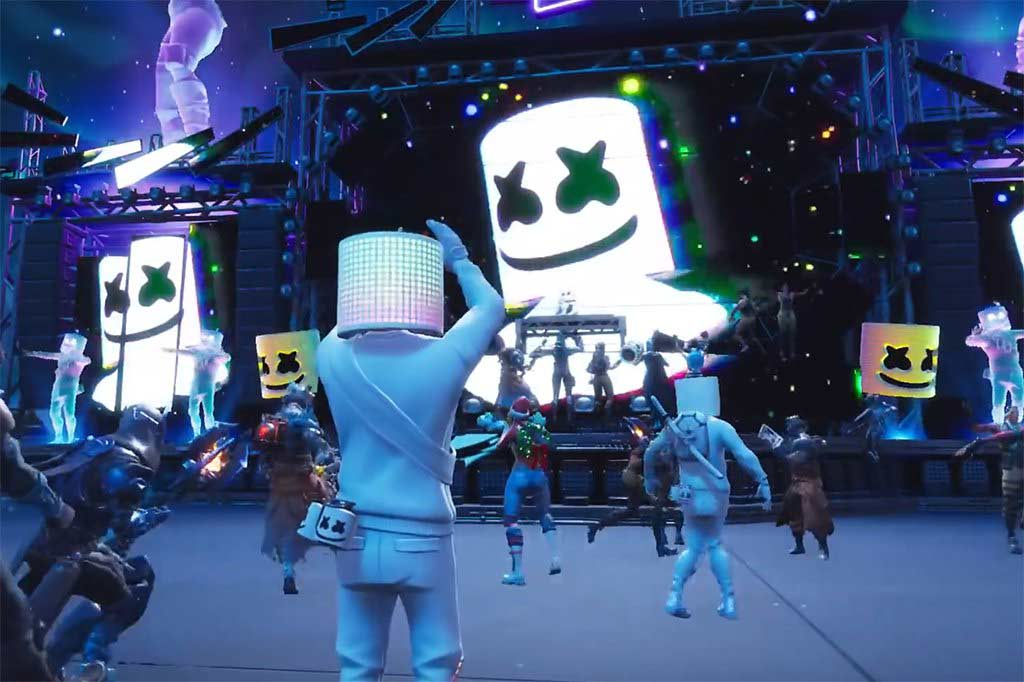 Fortnite , Epic Games , Battle Royale , MarshMello , People Can Fly , کنسرت فورتنایت , مارشملو