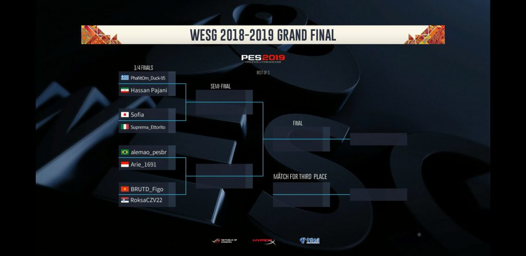 WESG 2019٬ PES 2019٬ Starcraft 2٬ WESG٬ World Electronic Sports Games٬
